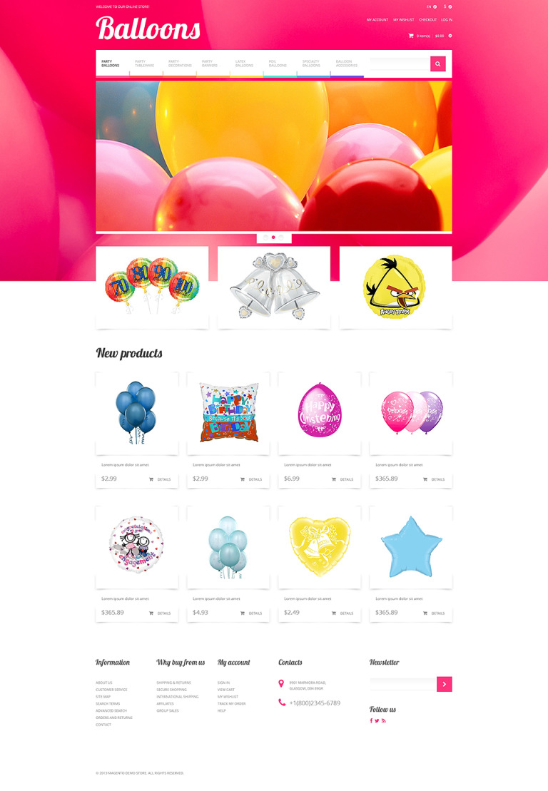 Soaring Happiness Magento Theme New Screenshots BIG