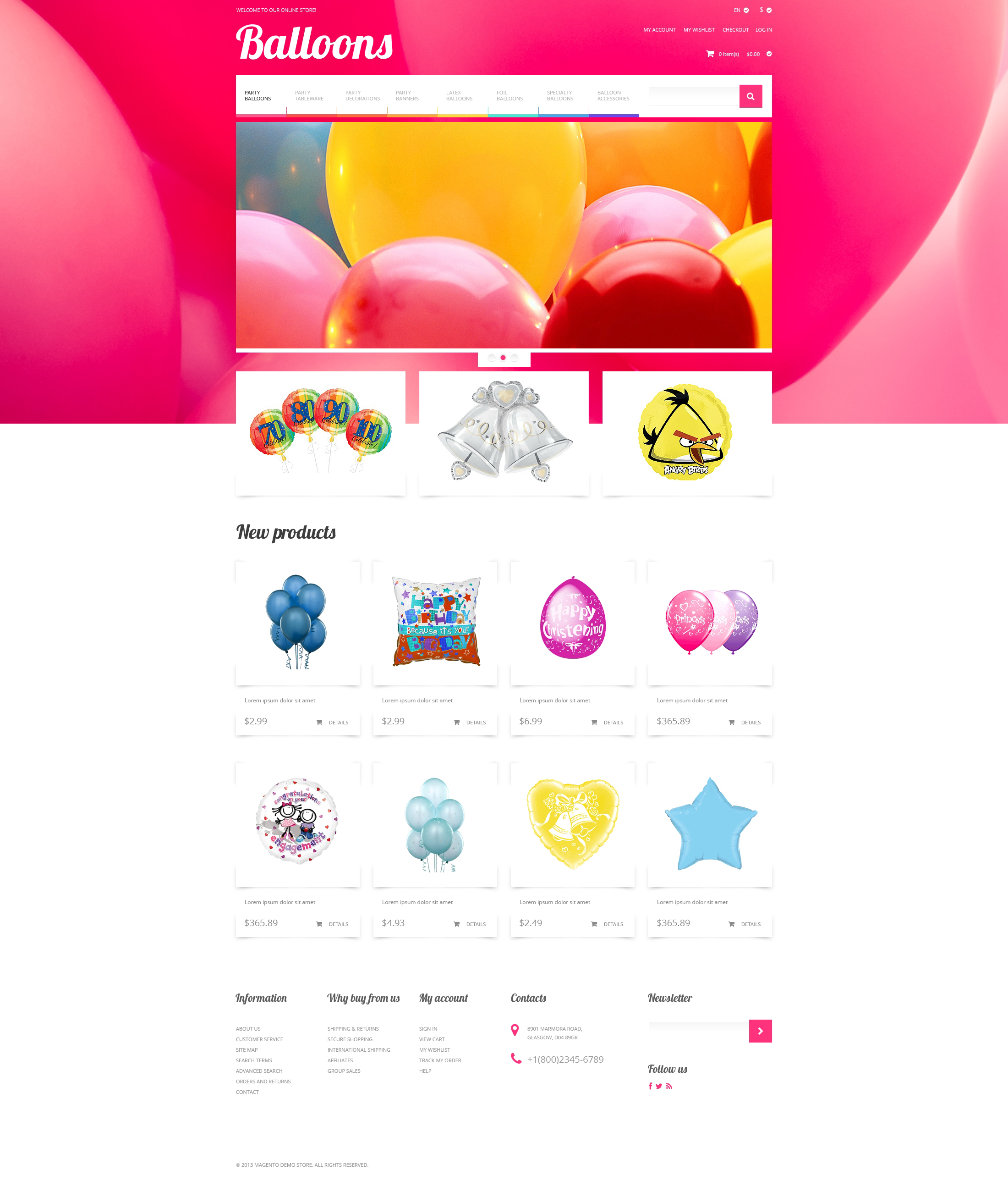 Soaring Happiness Magento Theme