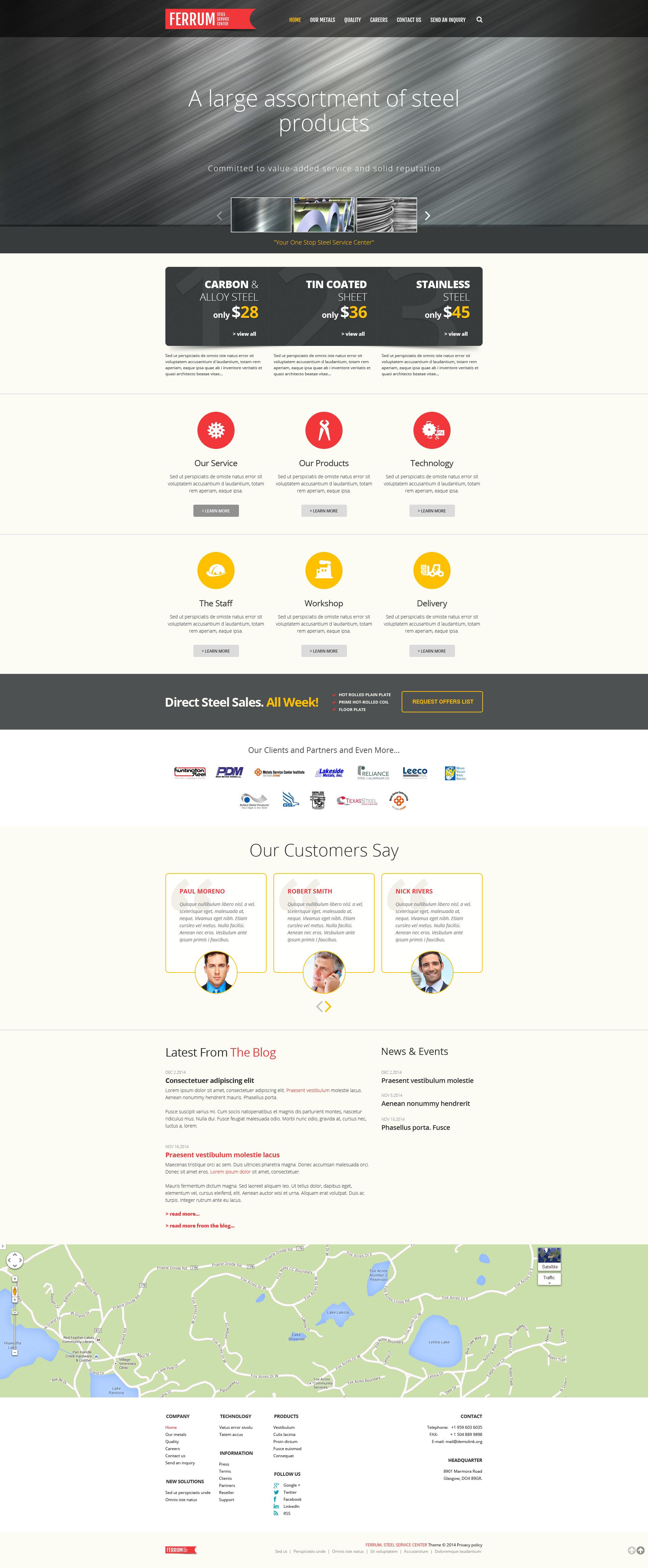 Steelworks Responsive Website Template - screenshot