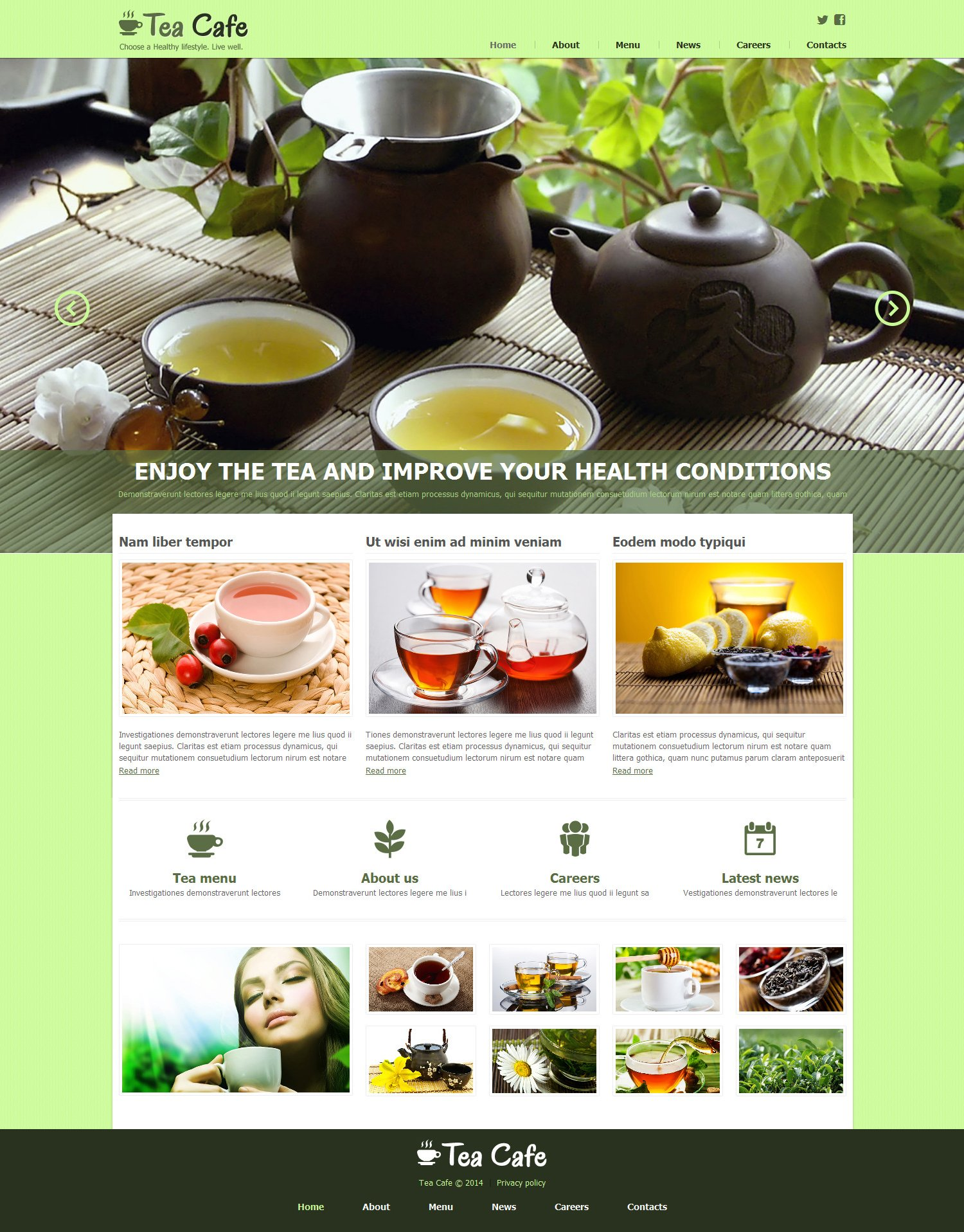 Tea Shop Responsive Joomla Template - screenshot