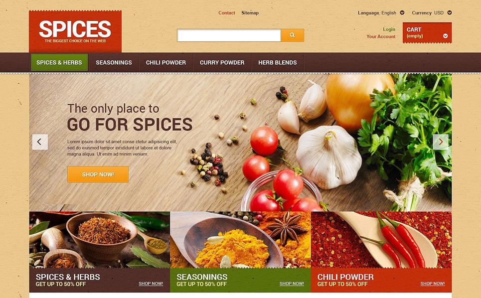 Tema PrestaShop  Flexível para Sites de Loja de especiarias №48038 New Screenshots BIG