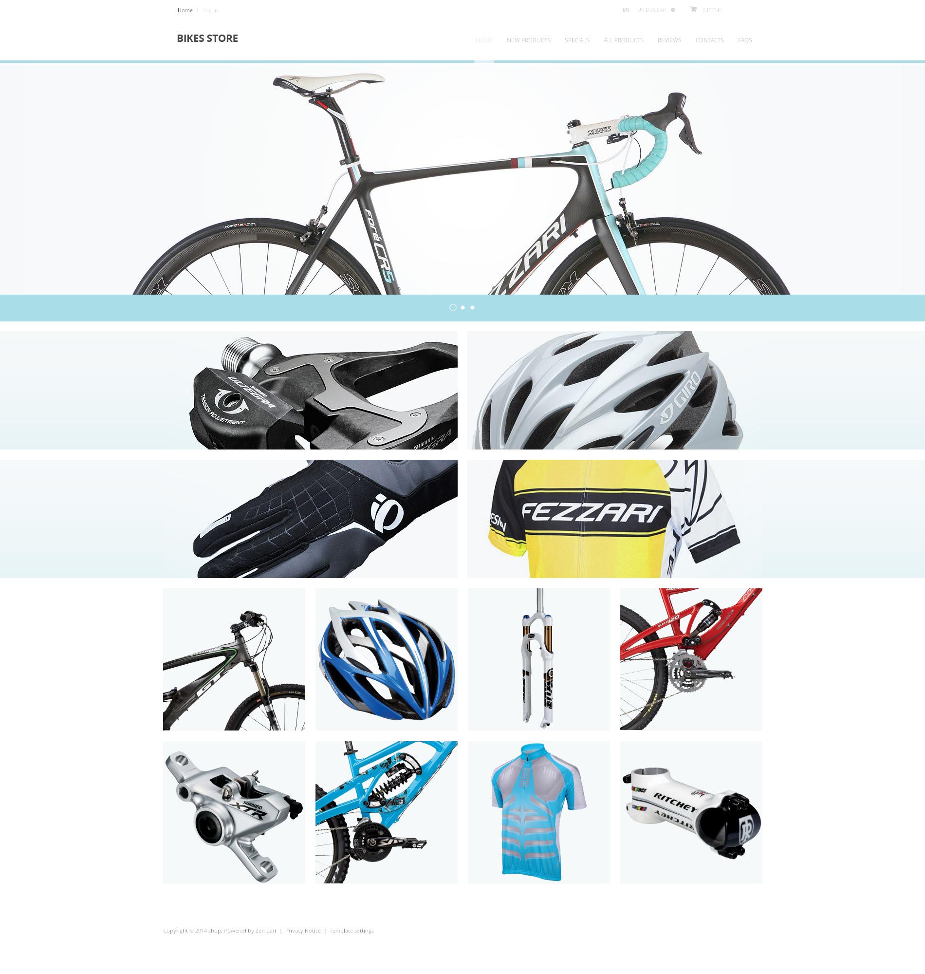 "Tema ZenCart #48048 ""Negozio di Bici"""