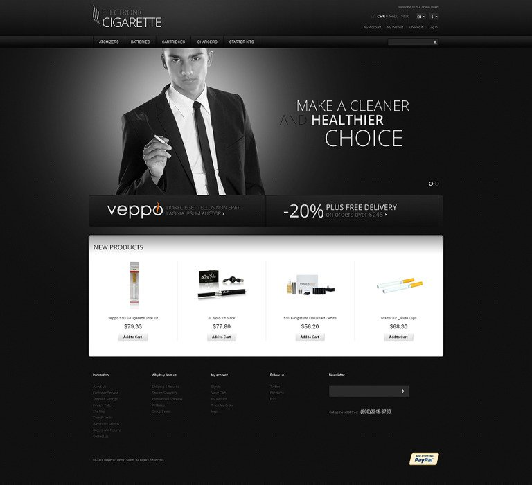 Tobacco Responsive Magento Theme New Screenshots BIG