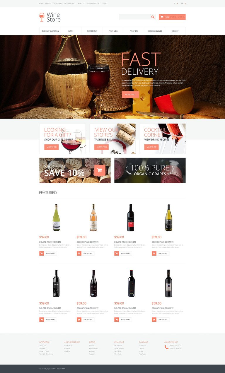 Wine Responsive OpenCart Template New Screenshots BIG