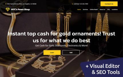 Template 136543 MotoCMS Website