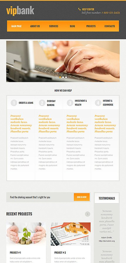WordPress Theme/Template 48102 Main Page Screenshot