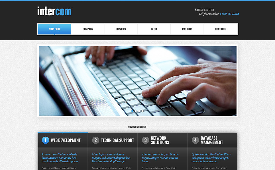 Responzivní WordPress motiv na téma Komunikace New Screenshots BIG