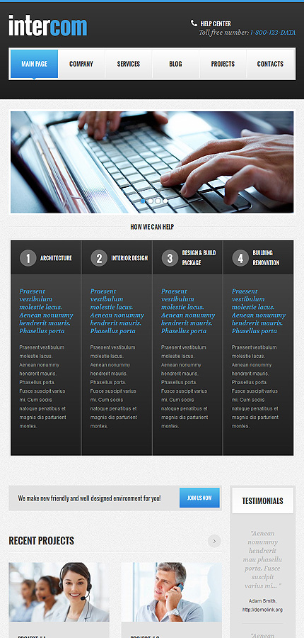 WordPress Theme/Template 48104 Main Page Screenshot