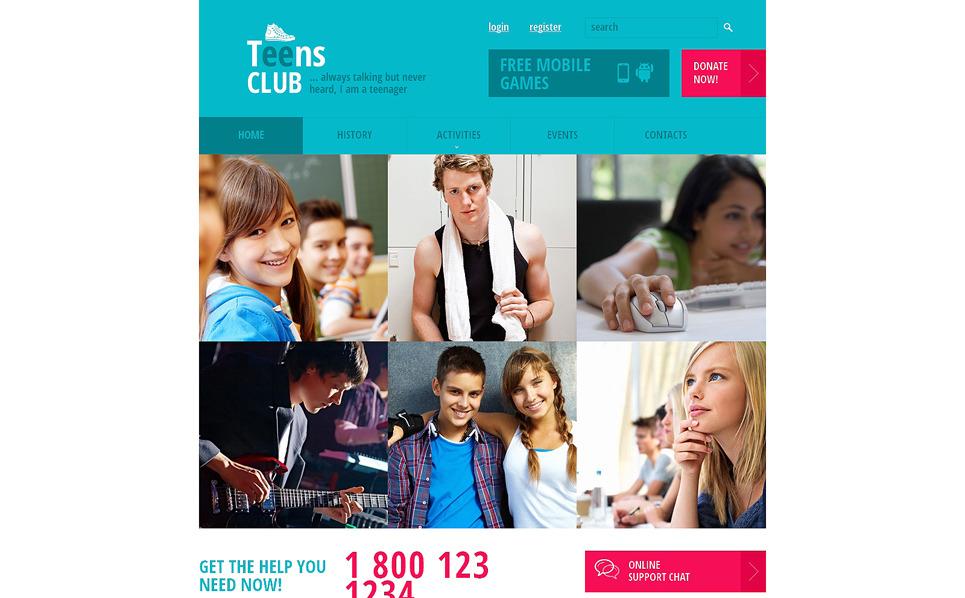 Responsive Website Vorlage für Jugendclub  New Screenshots BIG