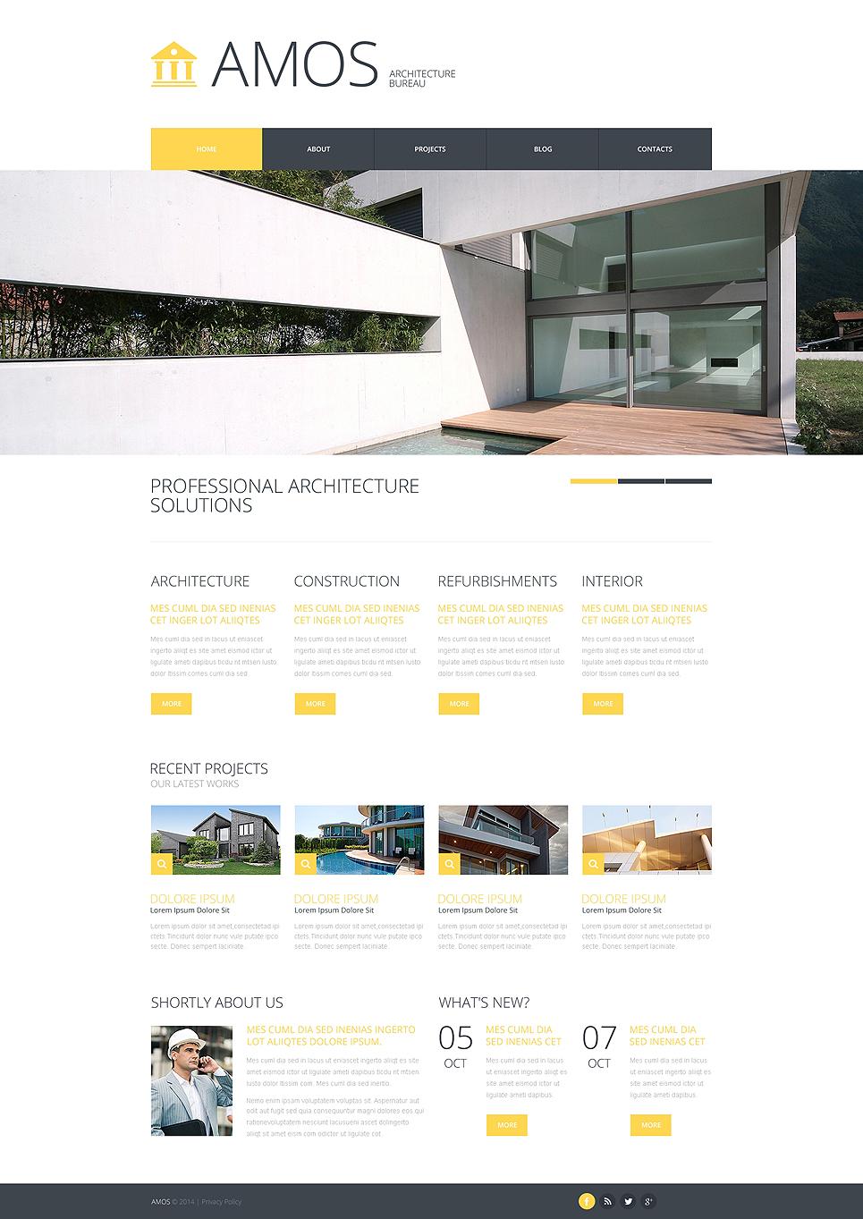 Plantilla web 48114 para sitio de arquitectura for Arquitectura tecnica ua