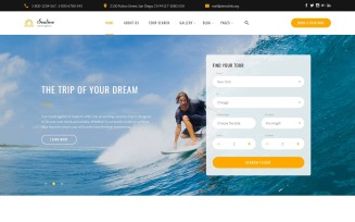 Sealine Travel Agency Multipage HTML Website Template