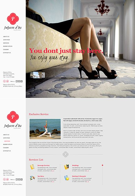 ADOBE Photoshop Template 48116 Home Page Screenshot