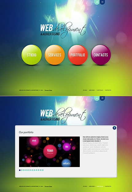 ADOBE Photoshop Template 48117 Home Page Screenshot