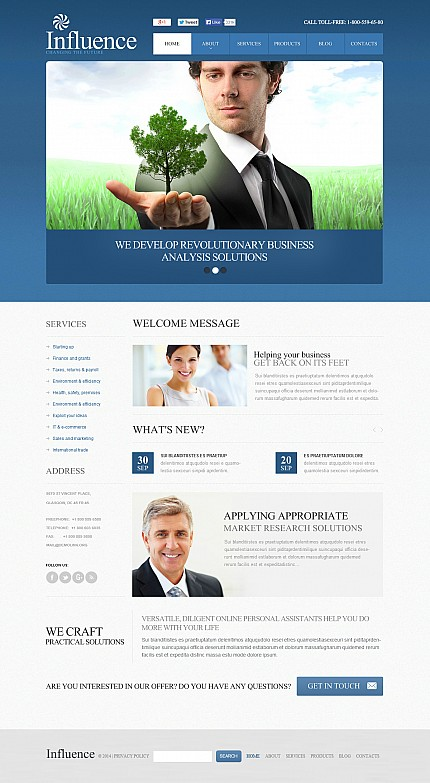 ADOBE Photoshop Template 48118 Home Page Screenshot