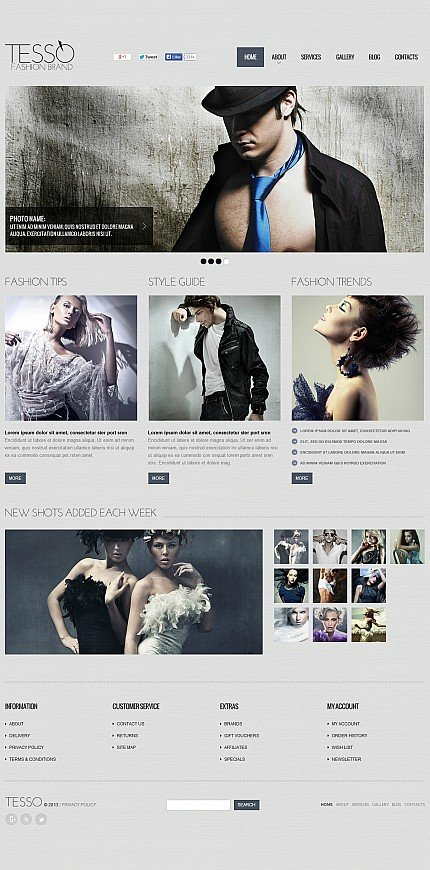 ADOBE Photoshop Template 48119 Home Page Screenshot
