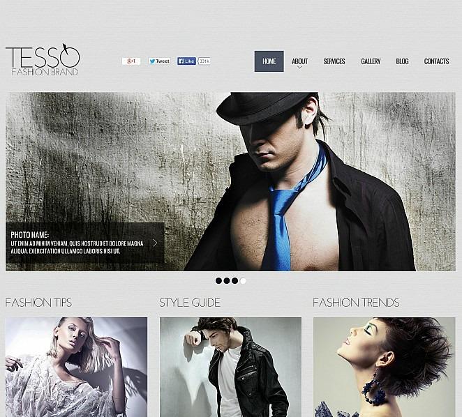 Szablon Flash CMS #48119 na temat: blog o modzie New Screenshots BIG