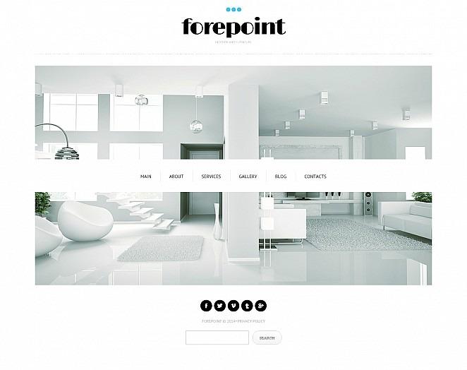 Modèle Flash CMS  pour site de design intérieur New Screenshots BIG