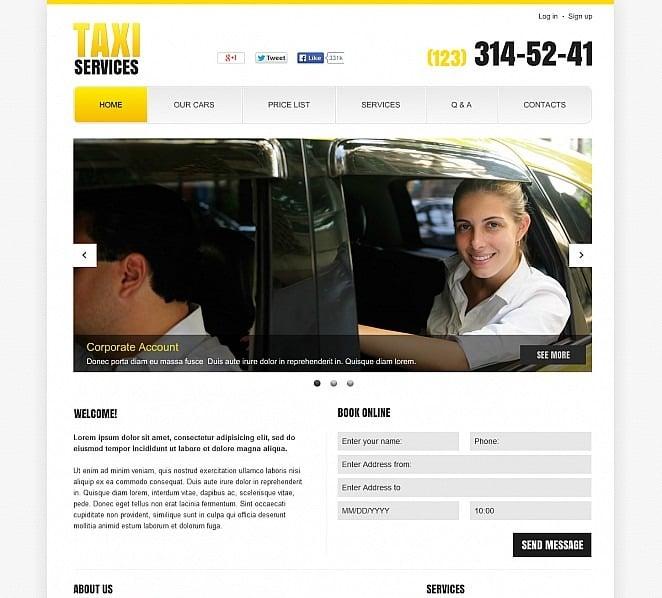 Szablon Flash CMS #48121 na temat: taxi New Screenshots BIG