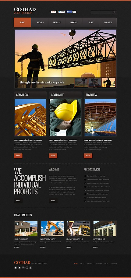 ADOBE Photoshop Template 48124 Home Page Screenshot