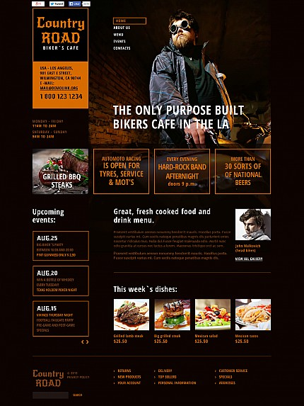 ADOBE Photoshop Template 48125 Home Page Screenshot