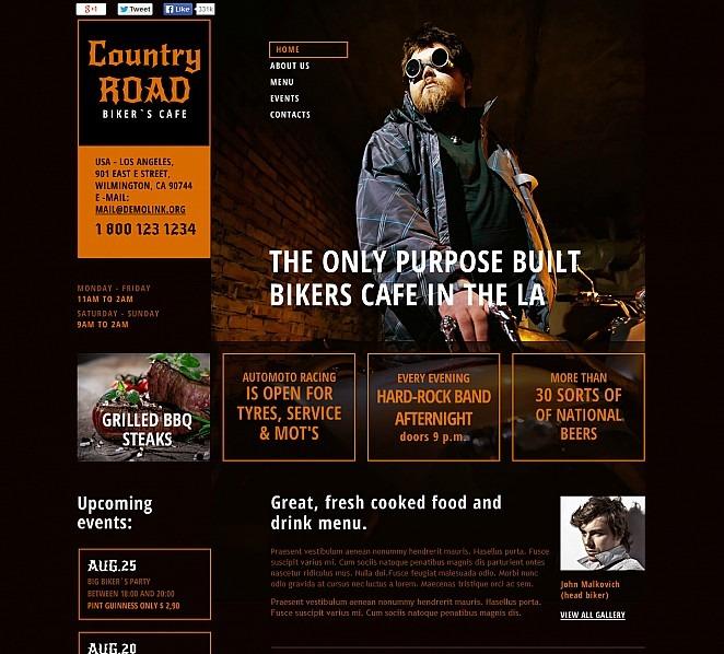 Plantilla Flash CMS #48125 para Sitio de Cafetería New Screenshots BIG