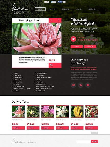 ADOBE Photoshop Template 48126 Home Page Screenshot