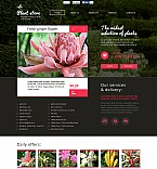 Flowers Flash CMS  Template 48126