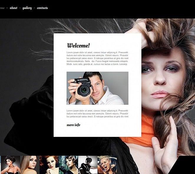Template de Galeria de Fotos para Sites de Portfólio de Fotografo №48132 New Screenshots BIG