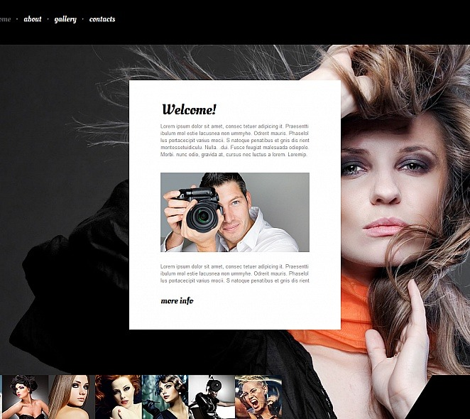 Premium Foto Galerij Template over Fotograaf Portfolio New Screenshots BIG