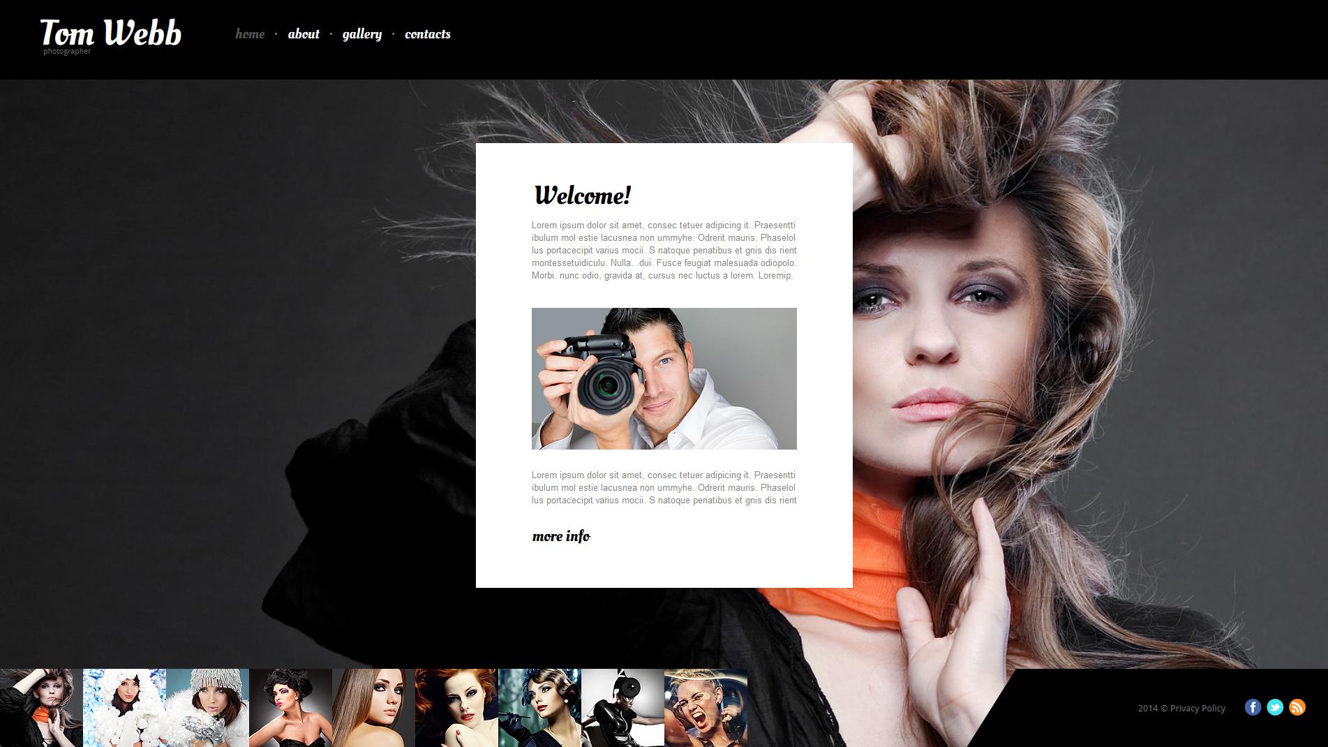 судьба стильный сайт фотографа нашим
