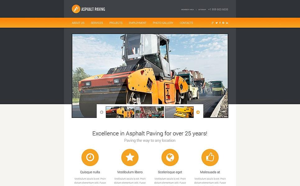 Responzivní Šablona webových stránek na téma Stavebnictví New Screenshots BIG