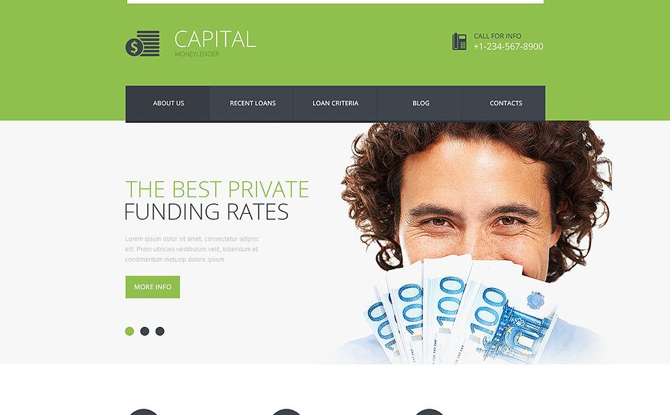 Responsive Website template over Financieel Adviseur  New Screenshots BIG