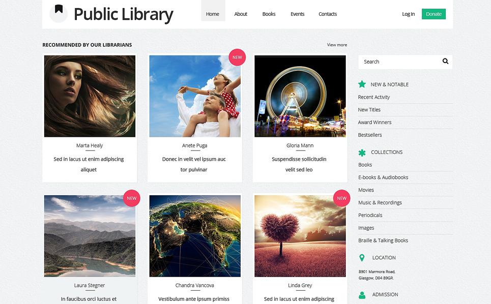 Responsive Website template over Boekbesprekingen New Screenshots BIG