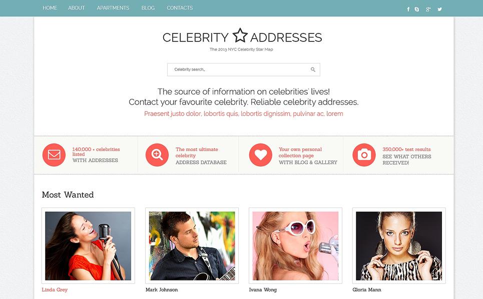 Responsive Website Vorlage für Berühmte Personen  New Screenshots BIG