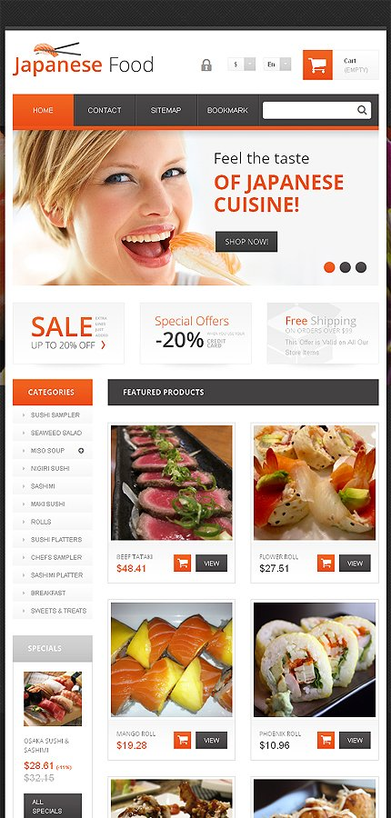 ADOBE Photoshop Template 48158 Home Page Screenshot