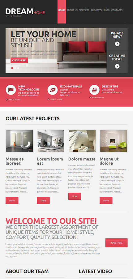 WordPress Theme/Template 48160 Main Page Screenshot