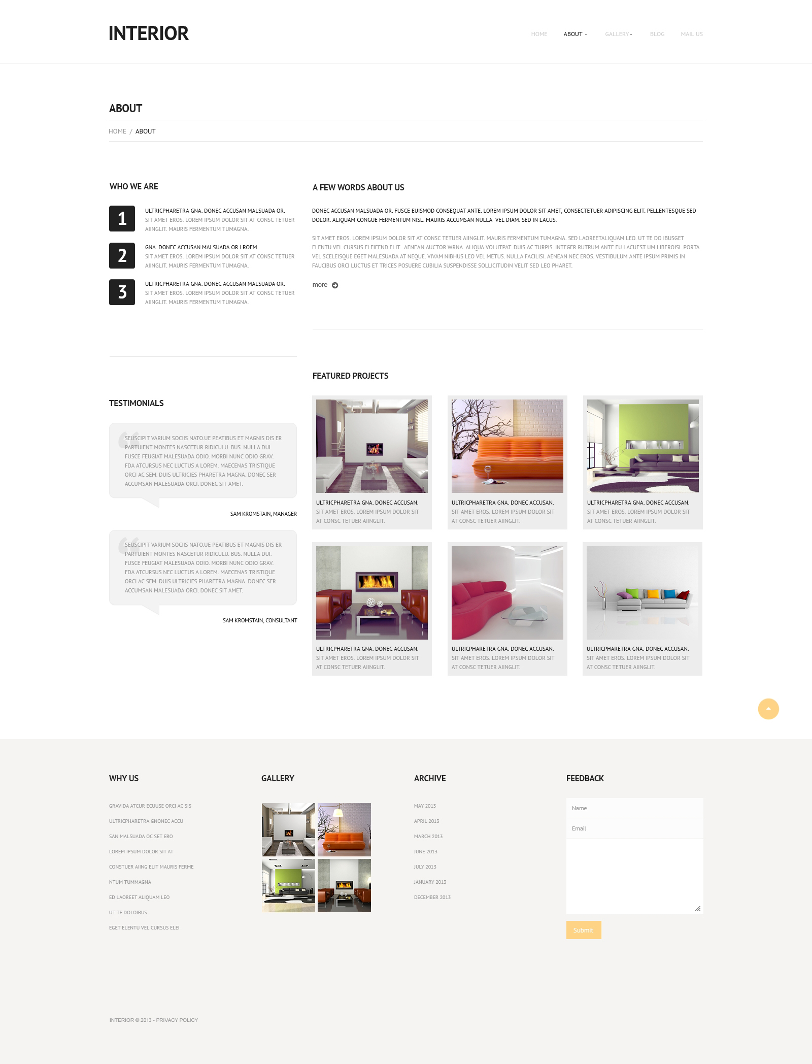 Interior Furniture Wordpress Theme 48164