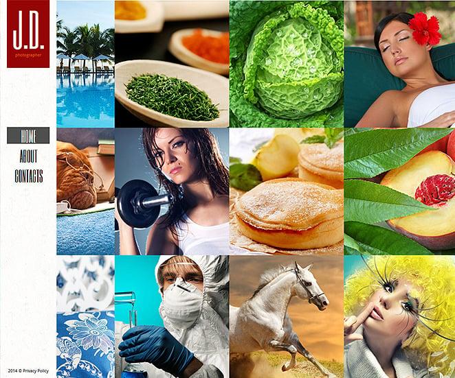 Szablon Galerii Zdjęć #48168 na temat: portfolio fotograficzne New Screenshots BIG