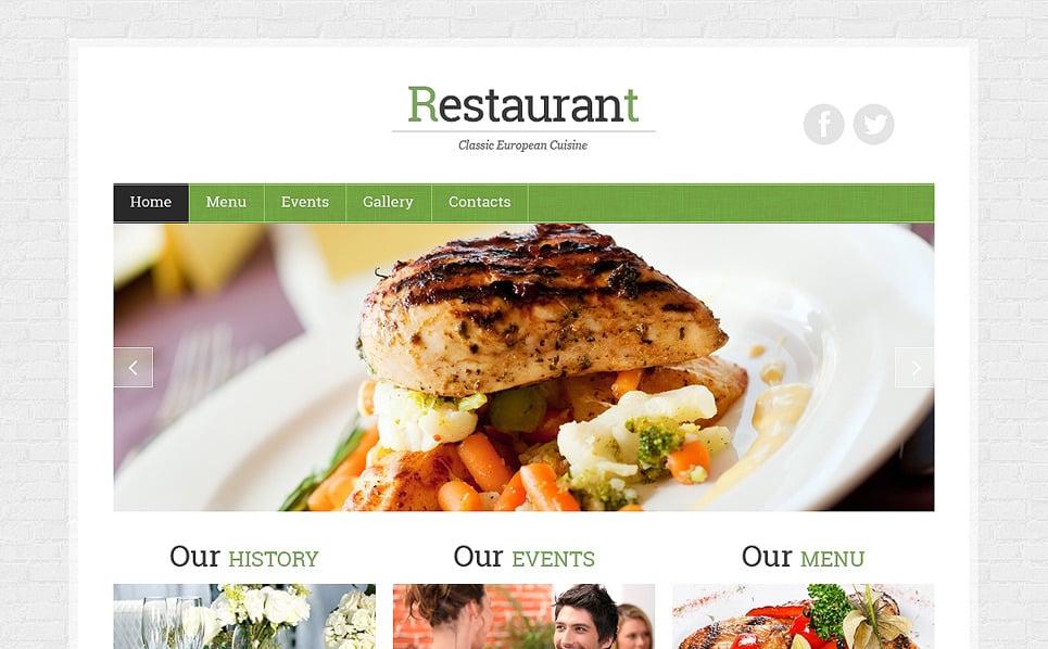 Responsive Website template over Europees Restaurant New Screenshots BIG