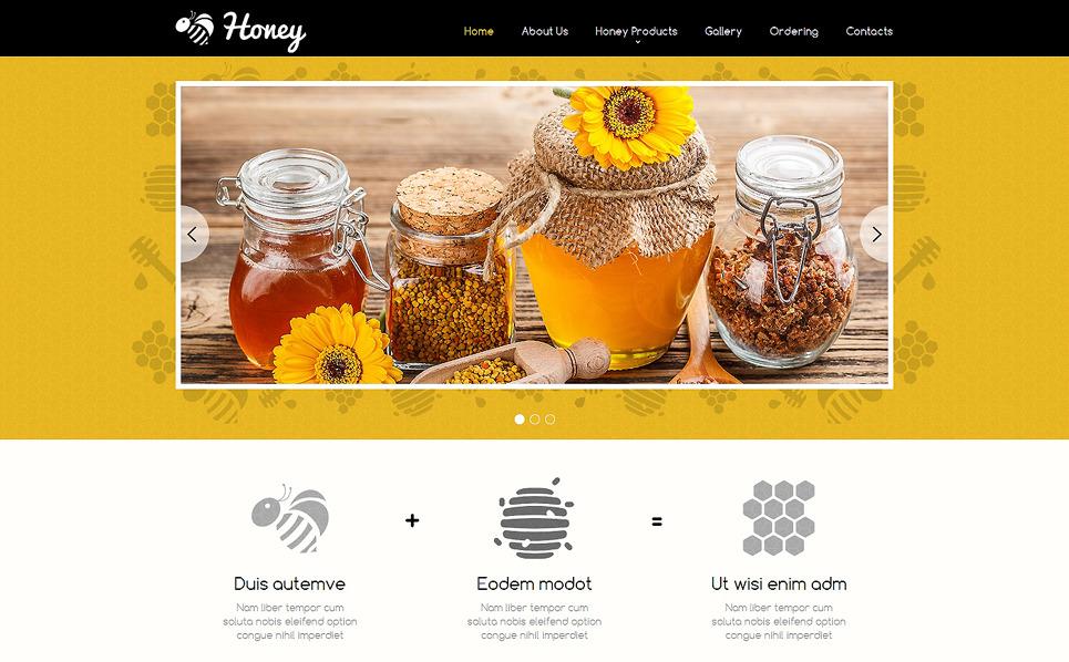 Reszponzív Mézboltok Weboldal sablon New Screenshots BIG