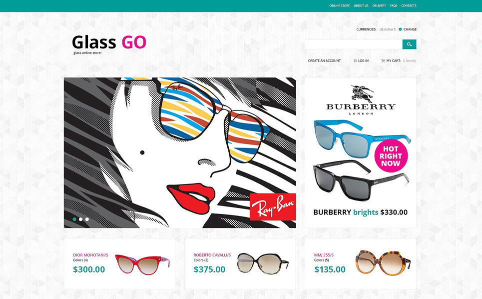 Plantilla VirtueMart #48184 para Sitio de Gafas New Screenshots BIG