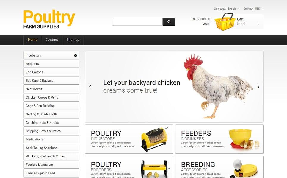 Responsives PrestaShop Theme für Geflügelfarm  New Screenshots BIG