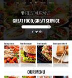 Cafe & Restaurant Joomla  Template 48190
