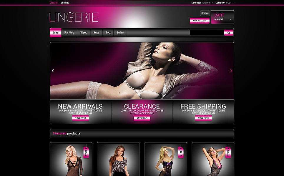 Tema PrestaShop  Flexível para Sites de Lingerie №48191 New Screenshots BIG