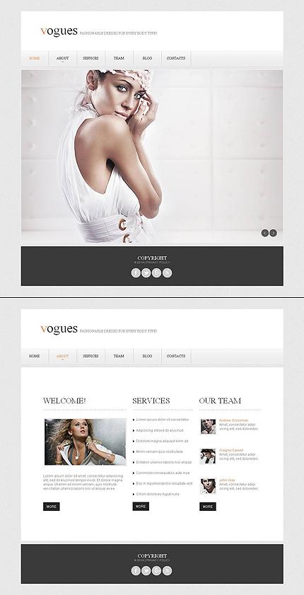 ADOBE Photoshop Template 48195 Home Page Screenshot