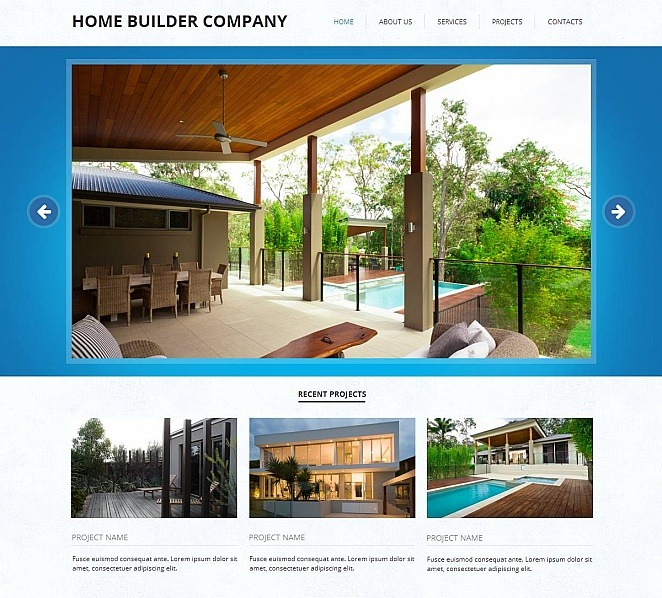 Szablon Moto CMS HTML #48196 na temat: firma budowlana New Screenshots BIG