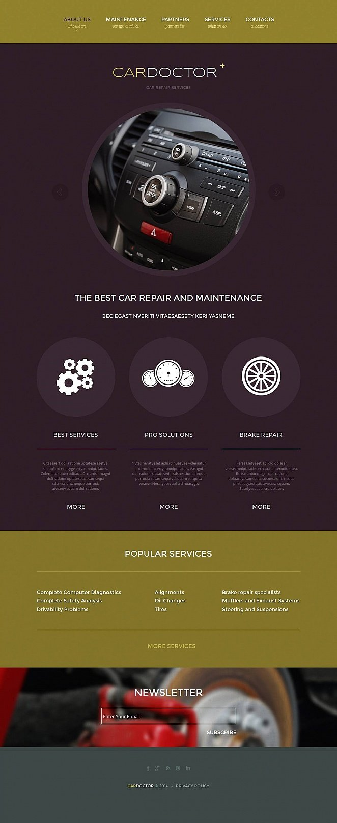 Creative Template with Flat UI to Promote Car Repair Services - image