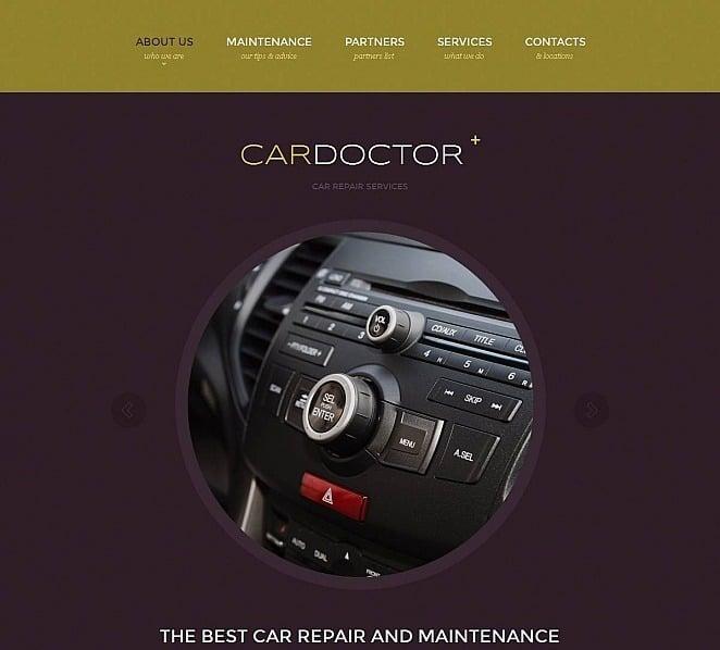 Plantilla Moto CMS HTML #48199 para Sitio de Reparación de coches New Screenshots BIG