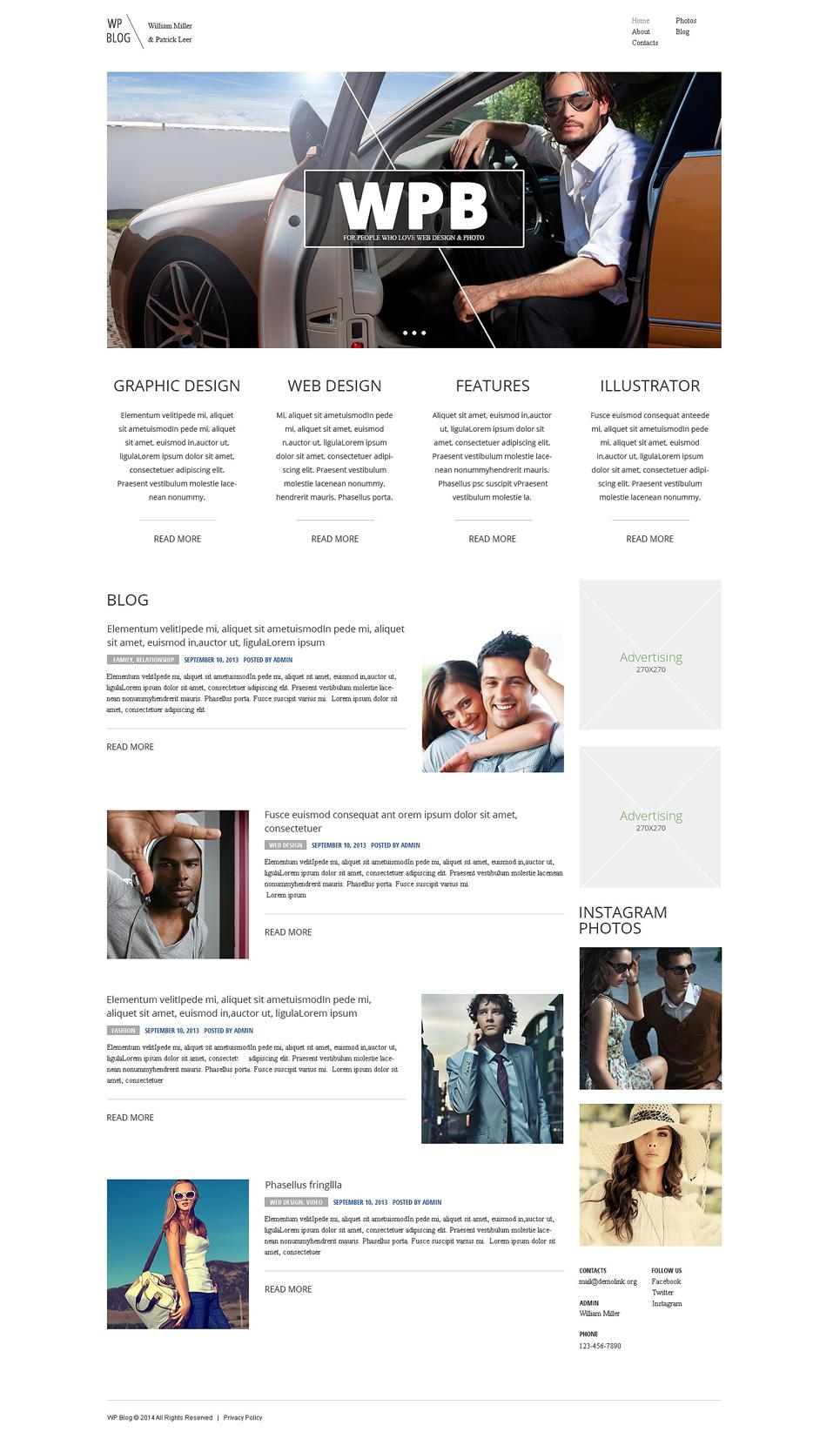 Адаптивный шаблон сайта на тему веб-дизайн #48162