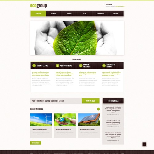 Eco Group - WordPress Template based on Bootstrap